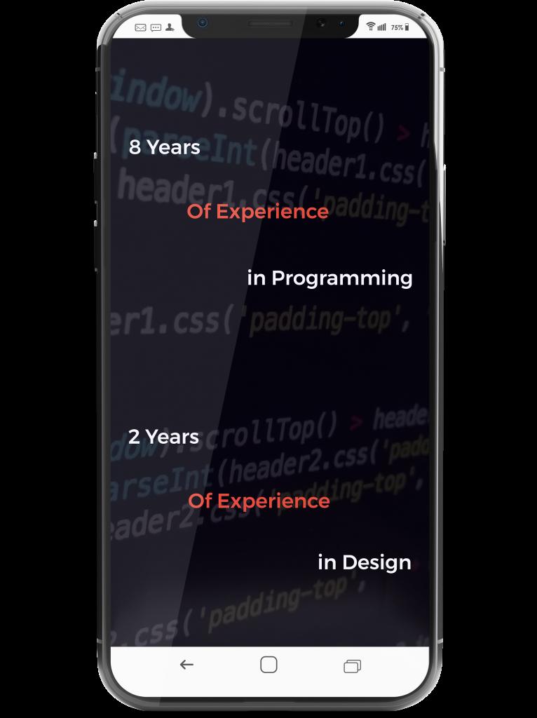 Erfahrung in Design und Programmierung Mobile