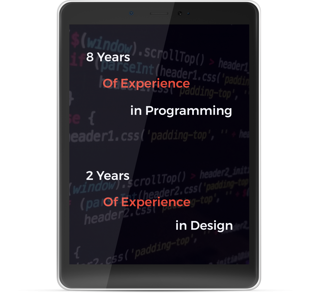 Erfahrung in Design und Programmierung Tablet